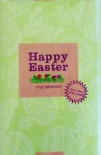 ASST Sizes Happy Easter Lace Butterflies, Flowers, Eggs Vinyl Tablecloth GREEN