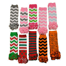 Cute Baby Toddler Girl Wavy Stripe Flower Socks Tights Arm Leg Warmers