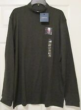 Men's Croft & Barrow Long-Sleeve Mockneck Tees, Size XXL,Charcoal Heather, NWT