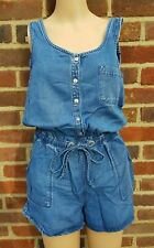 WOMEN'S BNWT NEW LOOK DENIM PLAYSUIT ROMPER OVERALLS JUMPSUIT