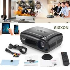 "GIGXON 5.8"" HD 3200lumens LED Multimedia Projector Home Theater HDMI,VGA,AV,USB"