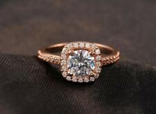 18K Rose Gold GP Ring Austrian Crystal princess women mens Ring R138b