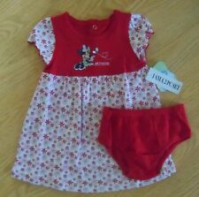 Baby girls size 3-6 months or 6-9M Disney Minnie Mouse dress and diaper cover
