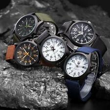 New Mens Military Sports Watch Stainless Steel Analog Army Quartz Wrist Watch SO