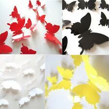 12pcs 3D DIY Butterfly PVC Art Decal Home Decor Kids Room Wall Mural Stickers