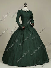 Victorian Civil War Gothic Period Dress Gown Reenactment Theather Clothing 316