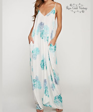 NWT Boutique Lovestitch Watercolor Floral Maxi - Small Medium Large