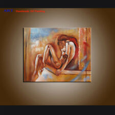 MODERN ABSTRACT OIL PAINTING Canvas Sexy Girl Contemporary Wall Art Handpainted