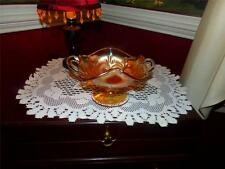 Vintage Marigold Carnival Glass Dugan Question Mark Bowl Nappy