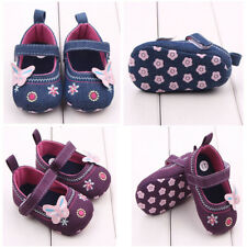 Toddler Baby Shoes Newborn Girl's Soft Soled Princess Crib Shoes Prewalker 3-5M