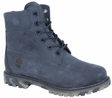Timberland AF Premium Nubuck 6 Inch Womens Boots Camo Sole Navy A149B T1