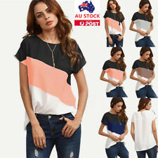 Women Chiffon Short Sleeve T-Shirt Ladies Casual Loose Fomal OL Tops Blouse Tee