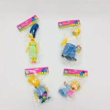 4 The Simpsons Vinyl Dolls Homer Marge Bart Maggie Unopened Sealed Presents 1990