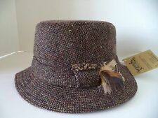 New Hanna Walking Hat brown speckled Irish Donegal tweed made in Ireland wool