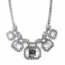 Crystal Luxurious Chunky Statement Bib Pendant Necklace Women Party Jewelry Gift
