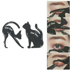 2X/Set New Cat Line Eye Makeup Tool Eyeliner Stencils Template Shaper ModelLA