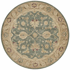 Alcott Hill Tinley Hand-Tufted Wool Teal Blue Area Rug