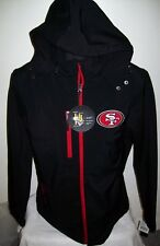 SAN FRANCISCO 49ERS Soft Shell Jacket with Removable Hood RED Size: LARGE