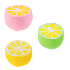Fruits Lemon Jumbo Slow Rising Squishies Squishy Squeeze Toy Stress Reliever
