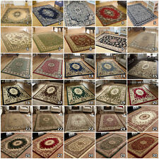 CLASSIC TRADITIONAL ORIENTAL MEDALLION SMALL LARGE SOFT RUNNER ROUND CIRCLE RUGS