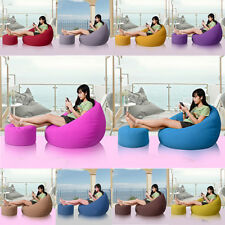 Canvas Bean Bag Covers + Ottomans Chair Cover for Stuffed Toy Animal Storage