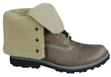 Timberland Authentic 6 Inch Shearling Juniors Boots Kids Roll Down 18901 D23