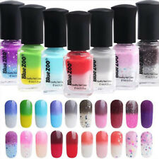6ml Temperature Color Changing Thermal Nail Polish Peel Off Manicure Tool Glitzy