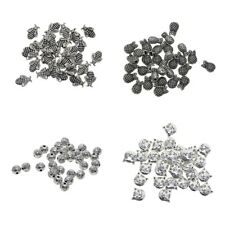 30Pcs Tibetan Silver Crafts Findings Spacer Charm Alloy Jewelry Making Beads