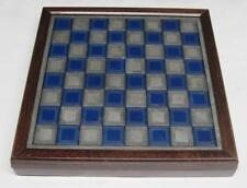 Franklin Mint 1983 National Historical Society Pewter Civil War Chess Set w/ COA