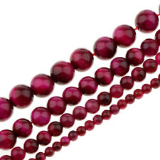 Natural Rose Red Sardonyx Agate Stone Loose Beads For Jewellery Making 4mm-10mm