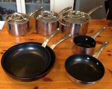 Circulon   Stainless Steel Non Stick Induction  Seven Pans + Three Lids