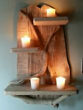 Handmade Unique Driftwood Shelves Solid Rustic Shabby Chic Nautical Art