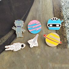 Cute Creative Airplane Robot Piercing Collar Pins Badge Cartoon Brooch Jewelry