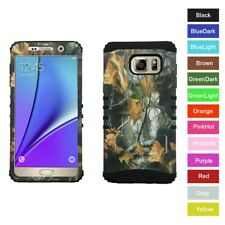 For Samsung Galaxy Note 5 Camo Camouflage Hybrid Rugged Armor Phone Case Cover