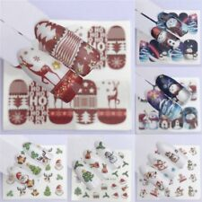 Cute Christmas Snowman Nail Art Decals Transfer Sticker Manicure Decoration Tips