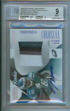 JEREMY MACLIN 2009 NATIONAL TREASURES AUTOGRAPHED ROOKIE PATCH-#02/10 BGS 9/10