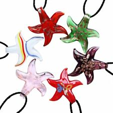 Lovely Murano Star Glass Pendant Necklace Women Costume Jewelry Gift Party New