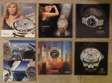 Citizen Watch and Reactor Watch Collection 2013-2015 Catalogs MINT New