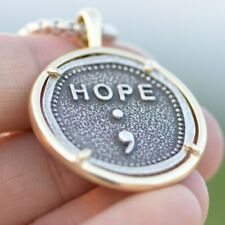 Semicolon Necklace My store isn't Over Yet, Suicide Prevention Men's Sympathy ;