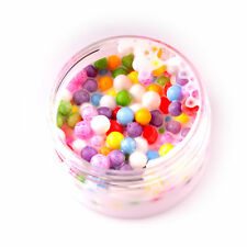 Ice Cream Beads Slime - 5 oz White Based Slime With mixed colors Foam Beads