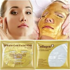 2020 Bioaqua 24K Gold Collagen Face Mask Crystal Gold Collagen Facial Masks