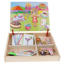 2 IN One Wooden Magnetic Jigsaw Puzzle & Writing Board Kid Child Educational Toy