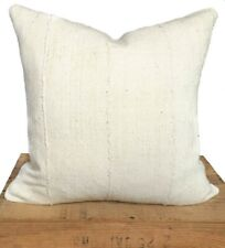 Mudcloth Pillow Cover | African Mud Cloth | Authentic Mud Cloth Pillow | White &