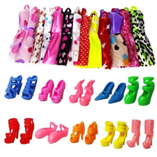 30Pcs Fashion Mixed DIY Handmade Barbie Doll Party Clothes Dress Shoes for Girl