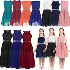 Flower Girls Dress Communion Party Prom Princess Pageant Bridesmaid Wedding Gown