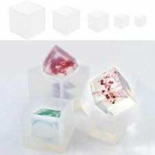 [PF] Craft Resin Pendant Hot Silicone Jewelry Tool Making Mold Diy Cube