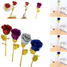 24K Rose Artificial Flower Unique Gift Thanksgiving Day Birthday For Wife Women