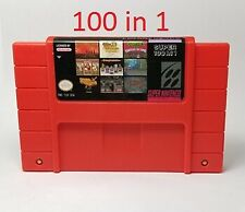 100 In 1 Multicart Game Cartridge for SNES Super Nintendo NTSC  And PAL USA EUR