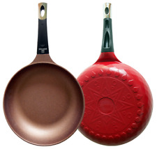 KitchenArt Non-stick  Induction  Frying Pan Wok Made In Korea  7.9-12 inch(bone)