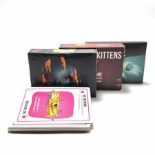 Board Games Exploding Kittens, NSFW Black Edition & Imploding Kittens Expansion